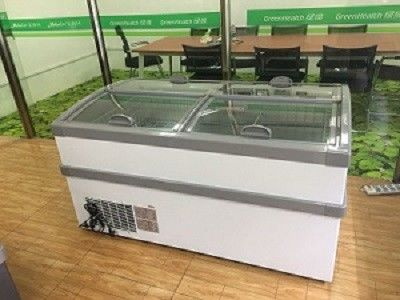 Combined Meat Island Display Freezer With Tempered Glass For Supermarket