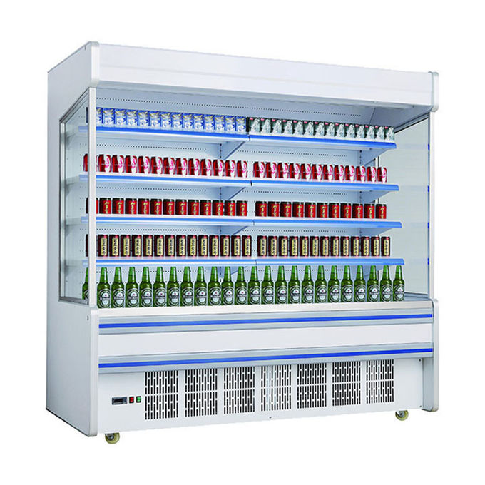 Commercial Self Service Multideck Open Chiller With 4 Layer Decks R404a Refrigerant