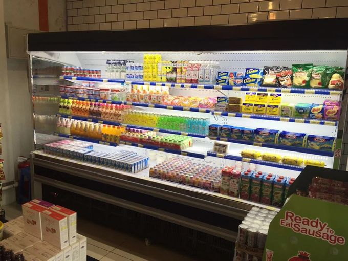 Energy - Saving Multideck Open Display Showcase For Hypermarket With Wheels