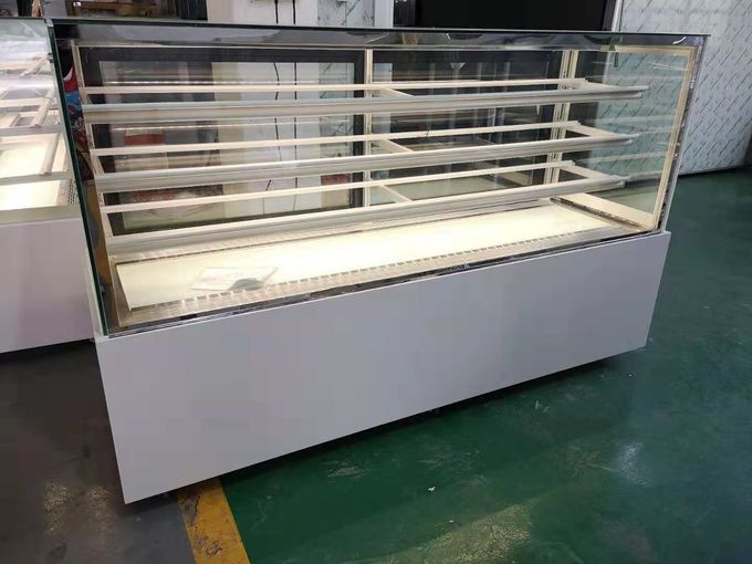 Commercial Pastry Desert Cake Display Showcase / Refrigerated Bakery Display Case