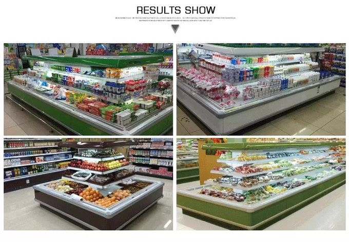 Customized Supermarket Open Deck Display Fridge With Remote Condensering Units