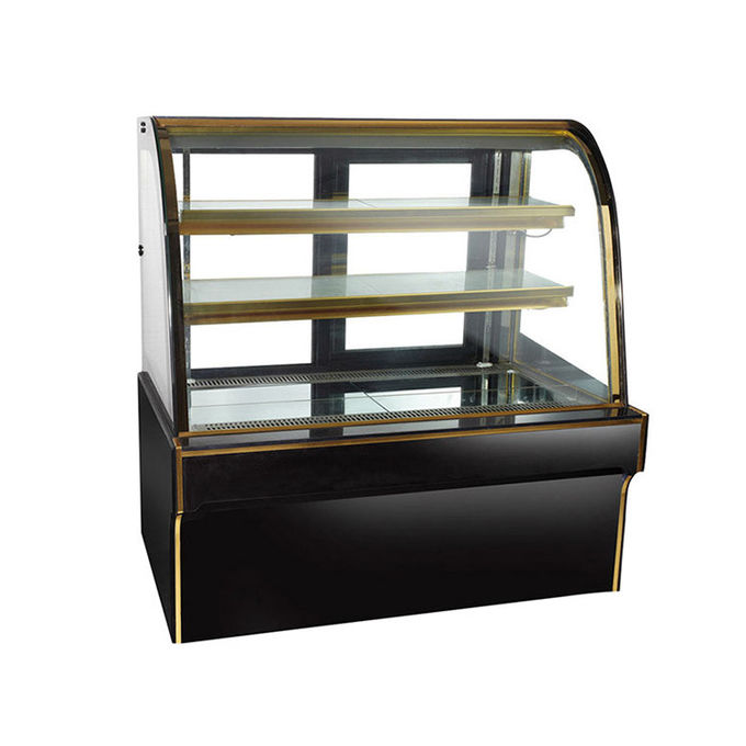 1200mm Luxury Cake Display Freezer With Black Marble Base Danfoss Compressor