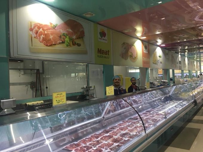 Food Meat Deli Display Refrigerator Build In System For Hypermarket