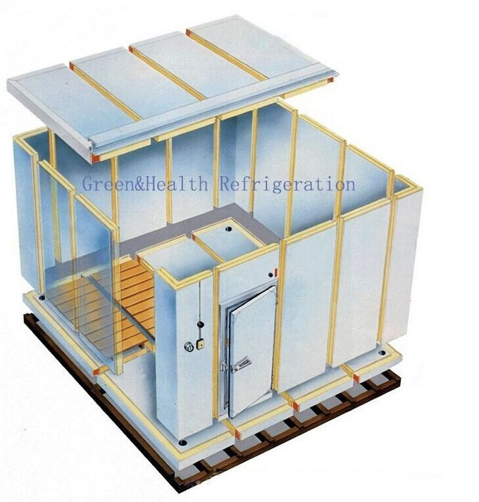 150mm Thickness Panel Cold Storage Room For Meat -20C Temperature Energy Saving